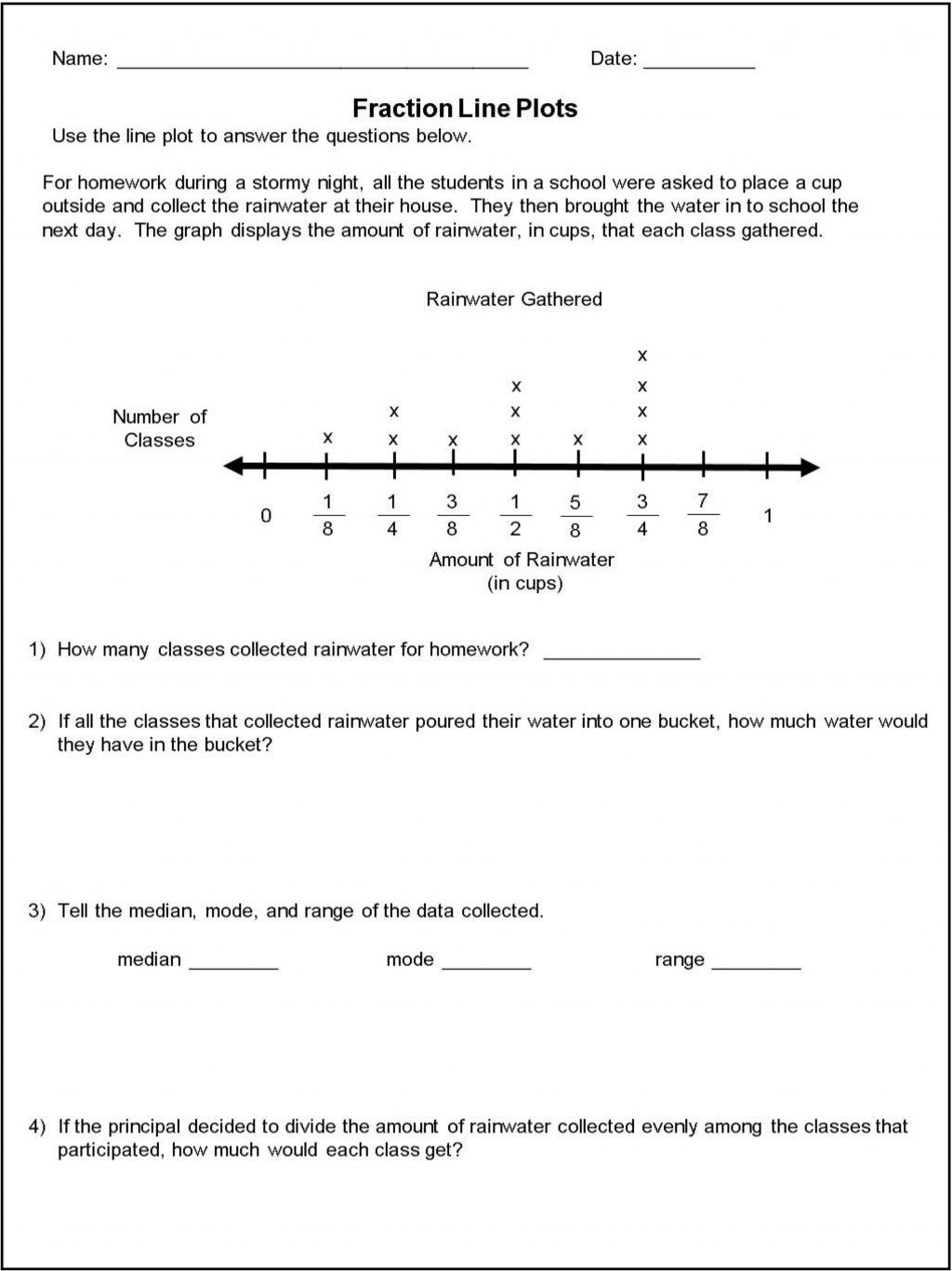 40 Clever Line Plot Worksheets For You S