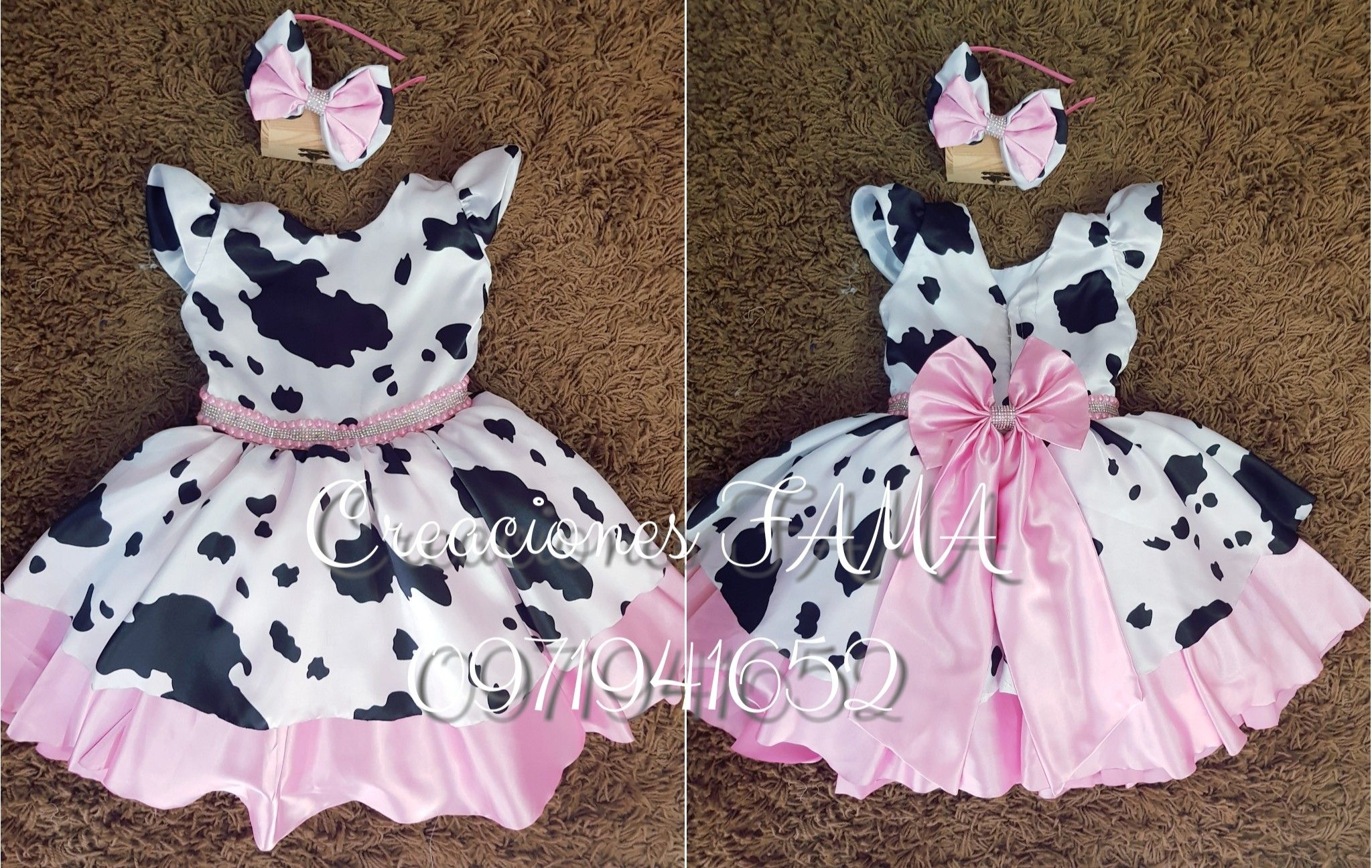 La vaca lola set Birthday girl outfit  la vaca lola  baby girl first birthday