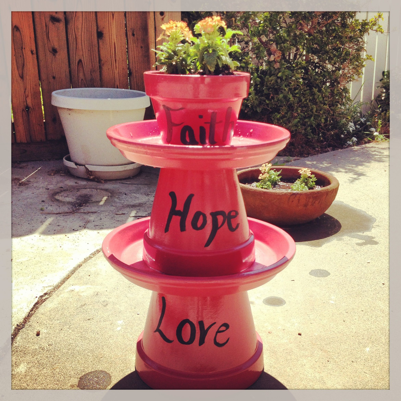 Flower Pot Bird Bath Ideas & Potted Bird Bath Craft - Year of Clean Water