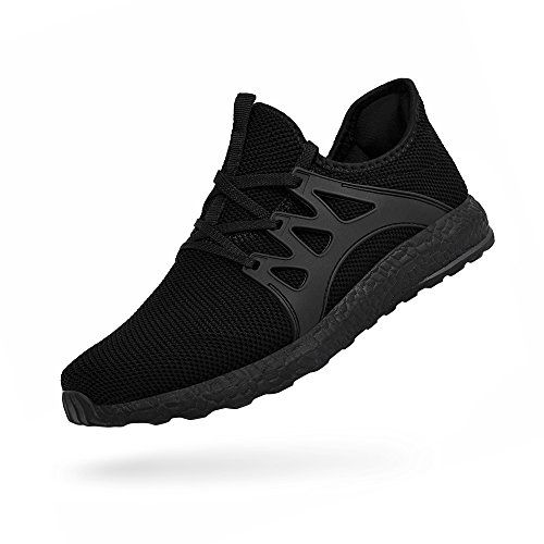 c42300f8ac2 ZOCAVIA Chaussures de Sport en Mesh Homme Femme Basket sans Lacets Chaussure  Running Leger Et Confortable Noir 42 EU