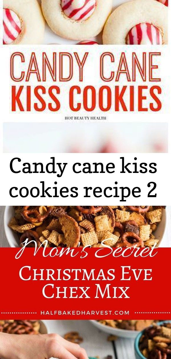 Candy cane kiss cookies recipe 2