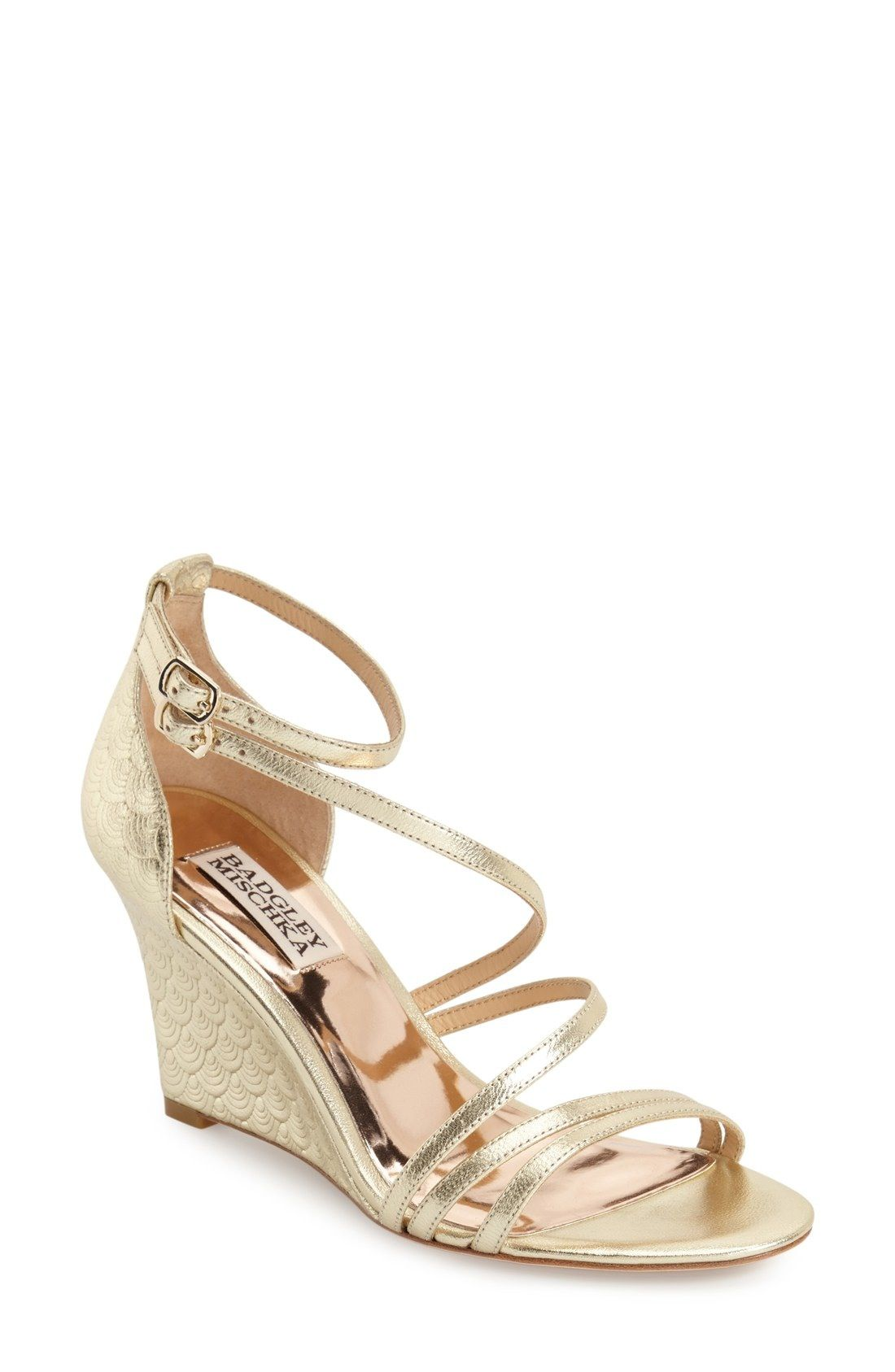 Badgley Mischka 'Carnation II' Wedge Sandal (Women) available at #Nordstrom