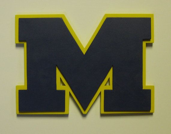University Of Michigan Wall Plaque by MullysCorner on Etsy, $35.00