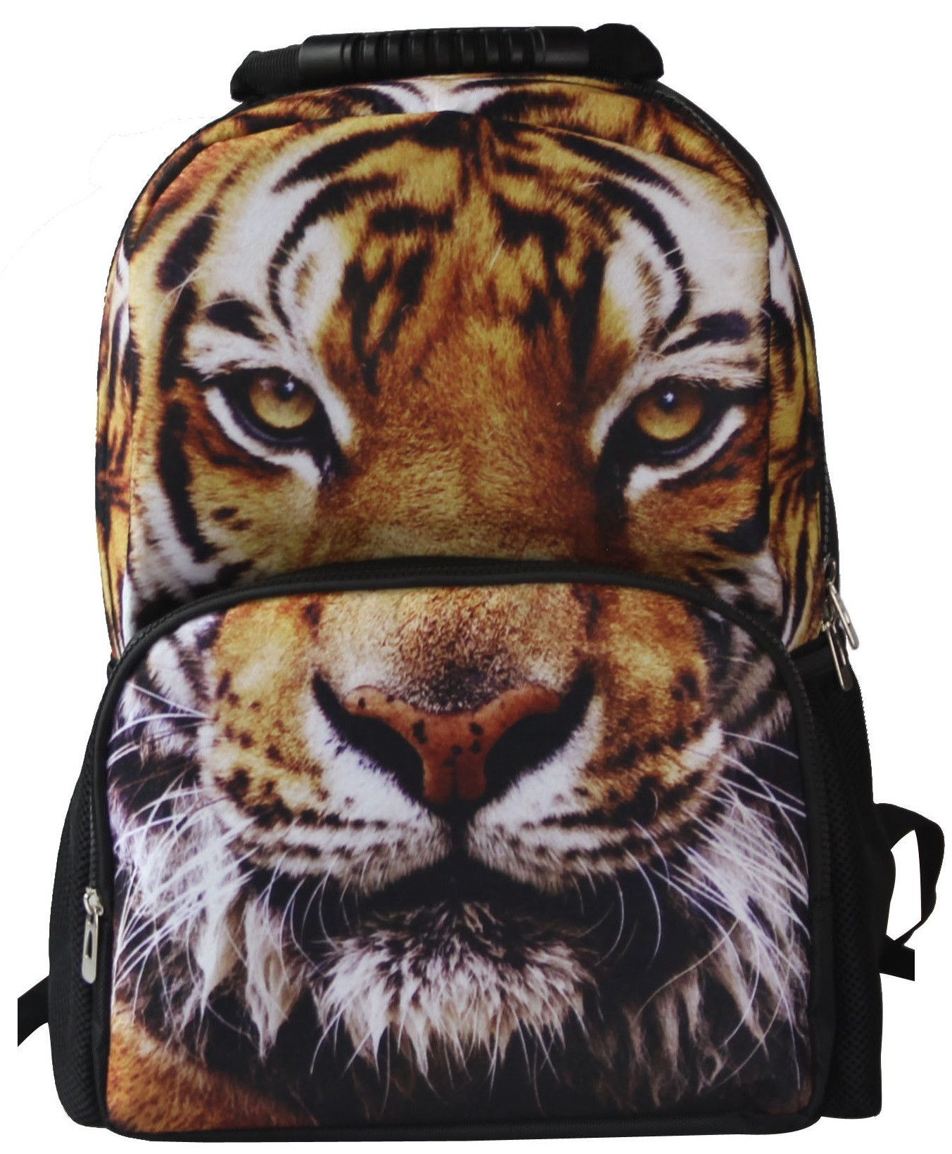 animal face 3d tiger 2 paint backpack | products | pinterest