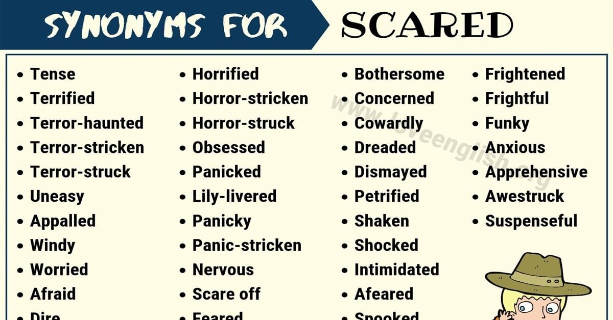 50 Scared Synonyms Words To Describe You Are Scared Love English Words For Scared Another Word For Scared Synonyms For Scared