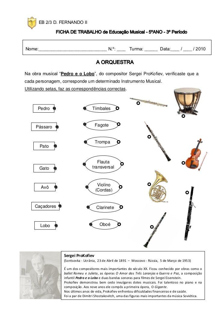Eb 2 3 D Fernando Ii Ficha De Trabalho De Educacao Musical