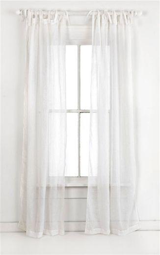 Pch Savannah Linen White Gauze Curtains Drapes Curtains
