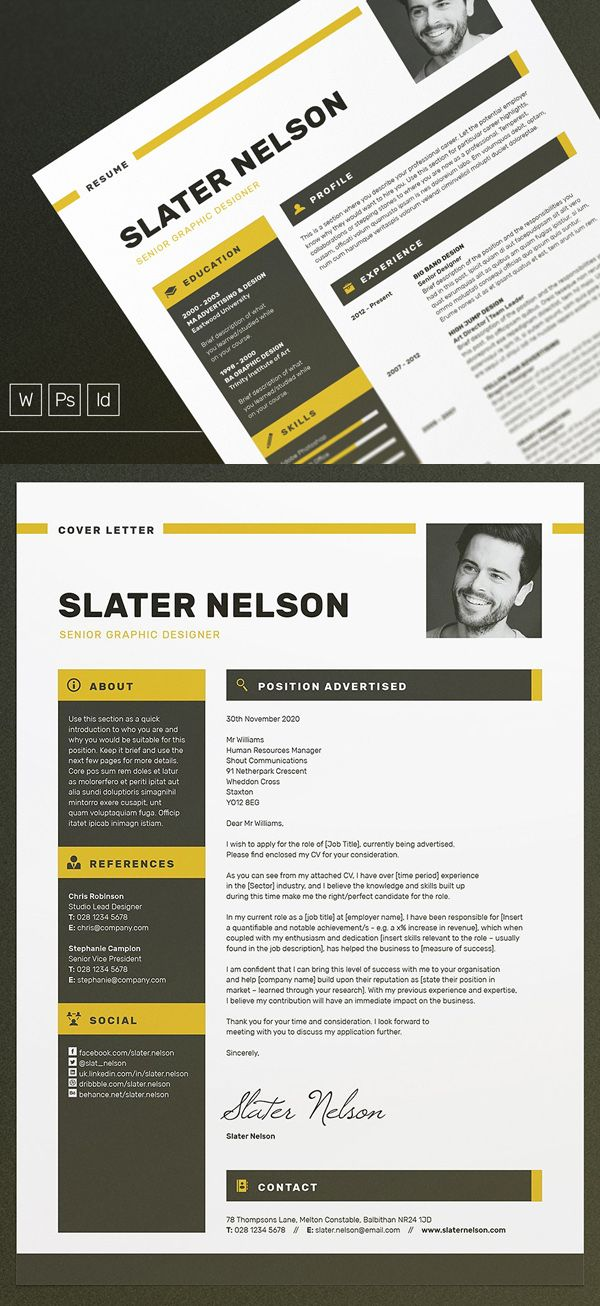 a4  u0026 us letter resume    cv template