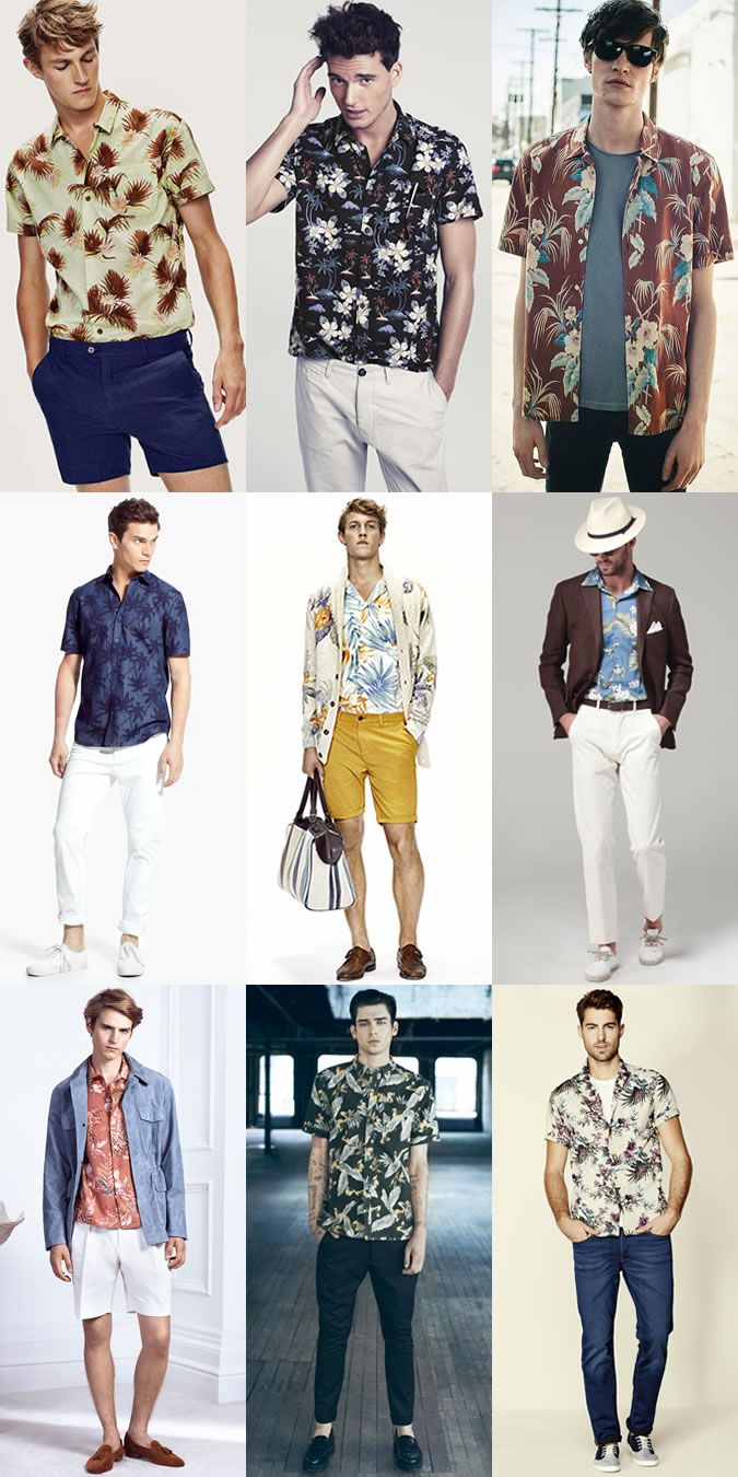 Menu0026#39;s Modern Alternative to Vintage Classics Hawaiian Shirts Outfit Inspiration Lookbook ...