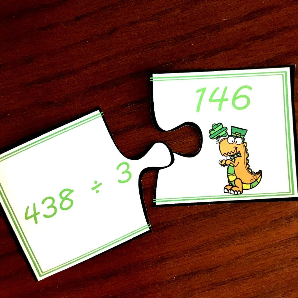 Free St Patrick Day Puzzles For Long Division Practice In