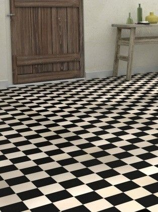 Sol vinyle imitation carrelage luna damier saint maclou - Dalle pvc imitation carreau de ciment ...