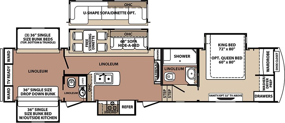 3 Bedroom 5th Wheel Floor Plans Search Your Favorite Image