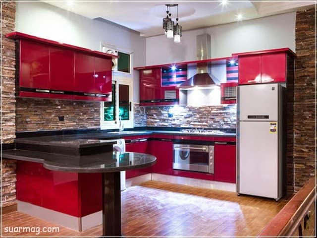 اجمل صور مطابخ امريكانى مفتوح على الريسبشن حصرية جدا مجلة صور Kitchen Cabinets American Kitchen Kitchen