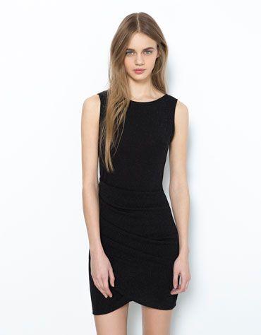 Bershka Turkey - Bershka draped dress | BERSHKA | Dresses ...