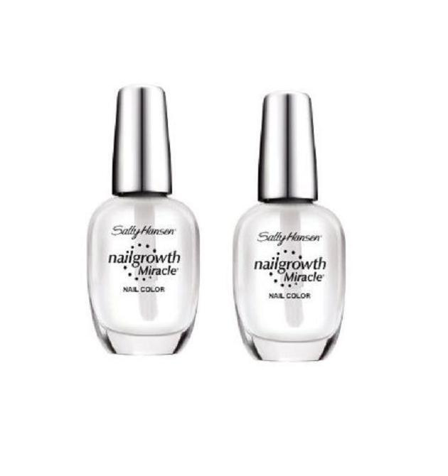 Lot of 2 Sally Hansen Nail Growth Miracle Clear Nail Polish 110 ...