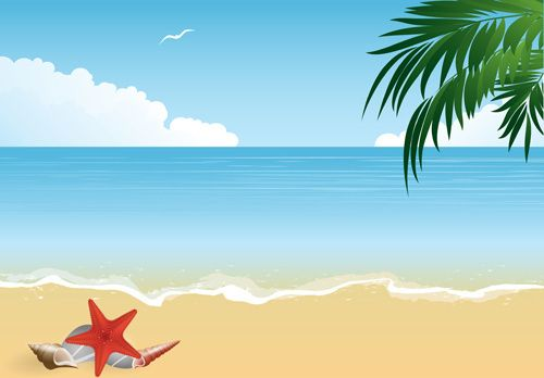 Summer Holiday Beach Creative Background Vecor Creative Background Beach Background Images Beach Cartoon