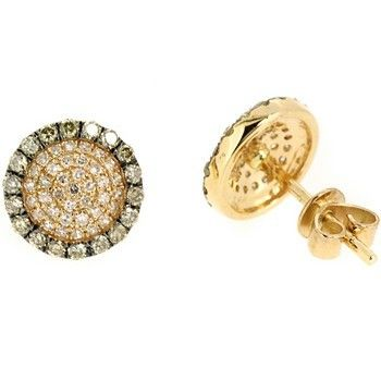 Jewelry Point - 0.65ct Cognac-Brown Pave Set Diamond Stud Earrings 14k Yellow Gold, $639.00 (http://www.jewelrypoint.com/0-65ct-cognac-brown-pave-set-diamond-stud-earrings-14k-yellow-gold/)