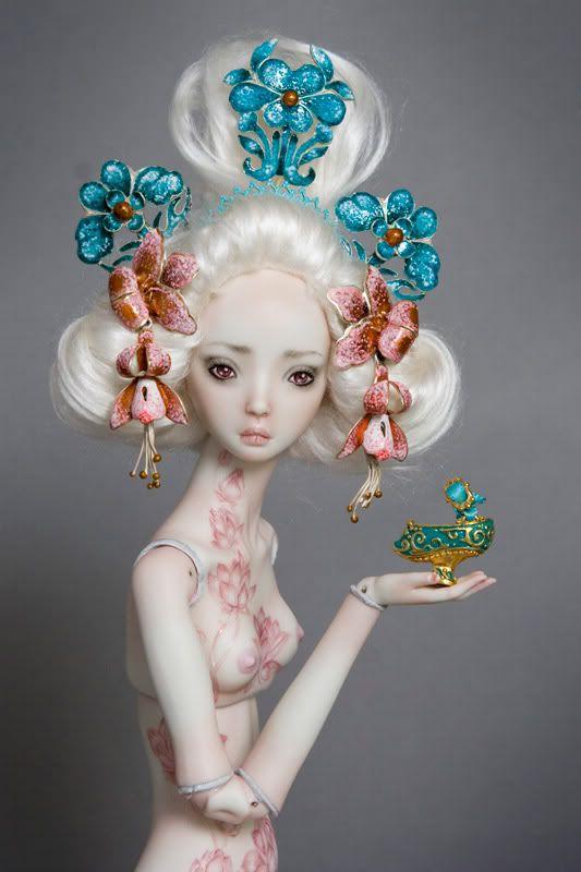 """Enchanted Dolls By Marina Bychkova tattoo   Lotus and Heart"""" by Lynette K.   Redbubble"""