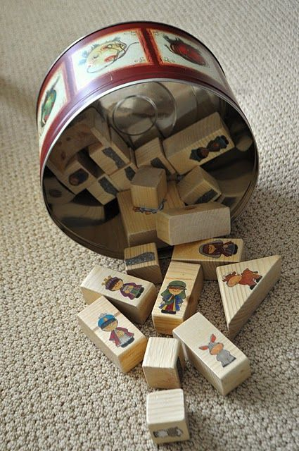 nativity blocks, failed to make these last year but must this year!