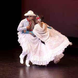 Dancers Mexican Culture Ballet Folklorico Couple Dancing