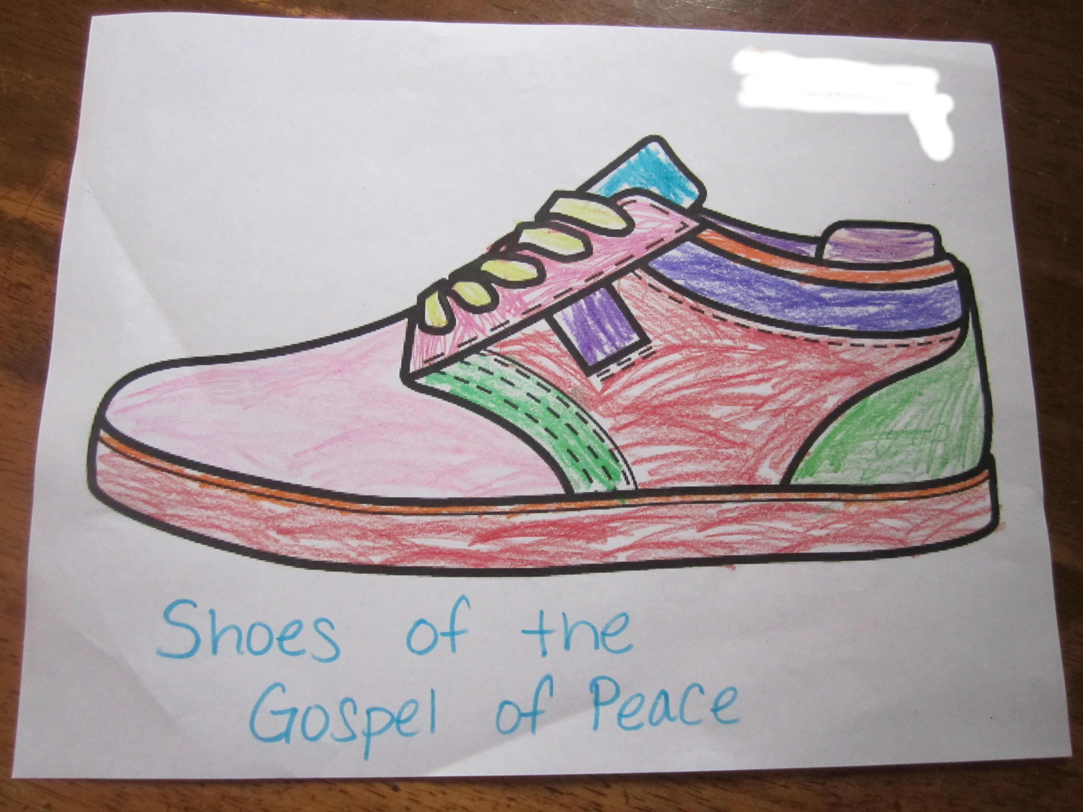 Shoes Of The Gospel Of Peace Coloring Page Children S Church