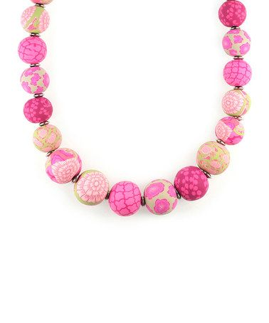 For the ALL PINK Outfits!  Loving this Berry Stainless Steel Medium Keepsake Necklace on #zulily! #zulilyfinds