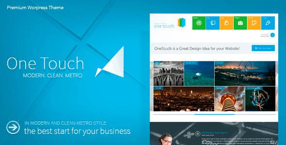 One Touch v2.7.5 Multifunctional Metro Stylish WP Theme | Nulled ...