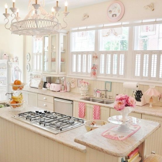 Girlie Kitchen Love It Literally Obsessed My Girly Home Pinterest Kitchens