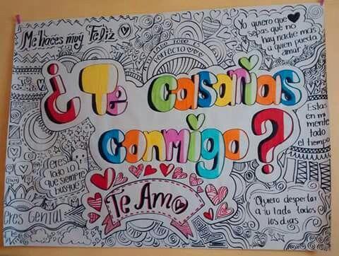 Propuesta Matrimonio Teamo Pancartas Decoracion Cartas De Amor