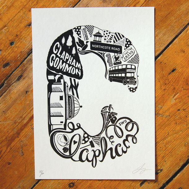 Best Of Clapham Screen Print