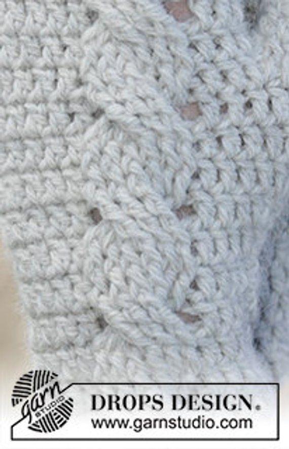 Crochet Snowdrift Womens Cable Design Wool And Alpaca Mittens