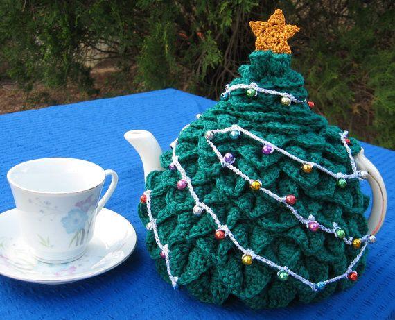 Uk Australian Terms Pdf Pattern For A Xmas Tree Tea Cosy In Crochet Crochet Tea Cozy Tea Cosy Tea Cosy Pattern
