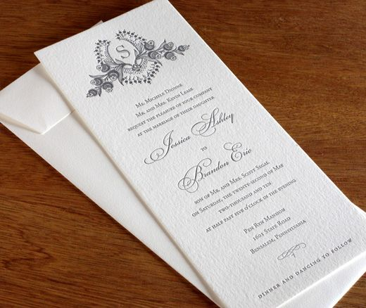 Wedding Invitation Wording Divorced Parents: Cathryn Wedding Invitation Design