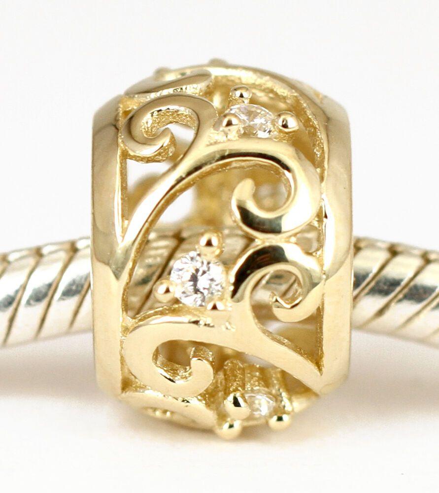 Necklace AUST SOLID 9CT 9K ROSE GOLD FLOWER Dangle BEAD For Charm Bracelet