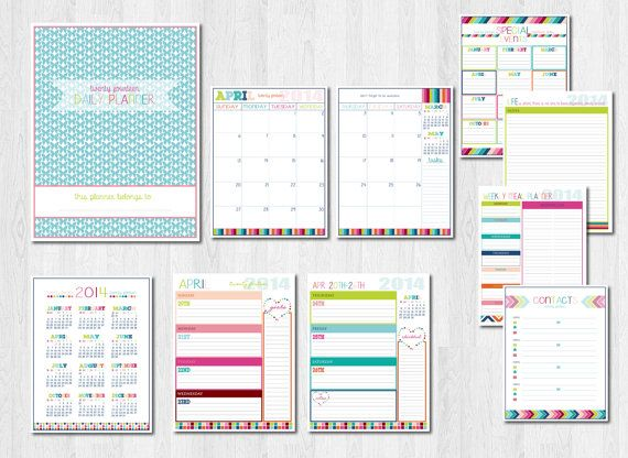 Weekly Life Calendar : Planner pages life organizer digital printable