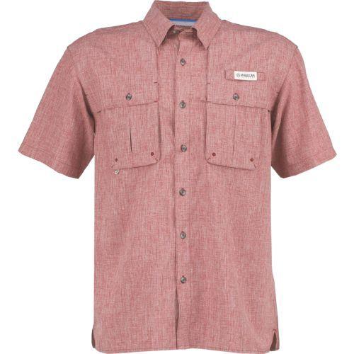 09f589b0 Magellan Outdoors Men's Aransas Pass Heather Short Sleeve Fishing Shirt  (Red Medium 10, Size Medium) - Men's Outdoor Apparel, Men's Fishing Tops at.