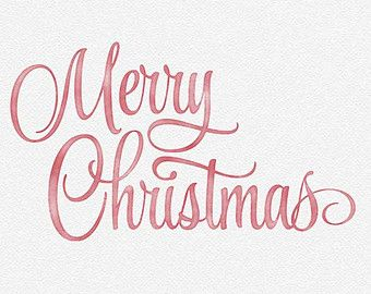 Merry Christmas Watercolor Photo Overlay - Red, White, Green or ...