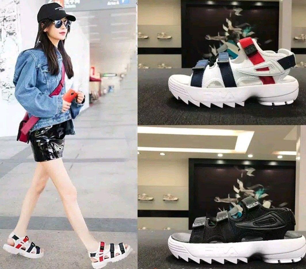 Fila Korea Flat 1005 Variant Black White Navy Red Insole Size 36 23cm 37 23 5cm 38 24cm 39 24 5cm 40 25cm 41 25 5cm 42