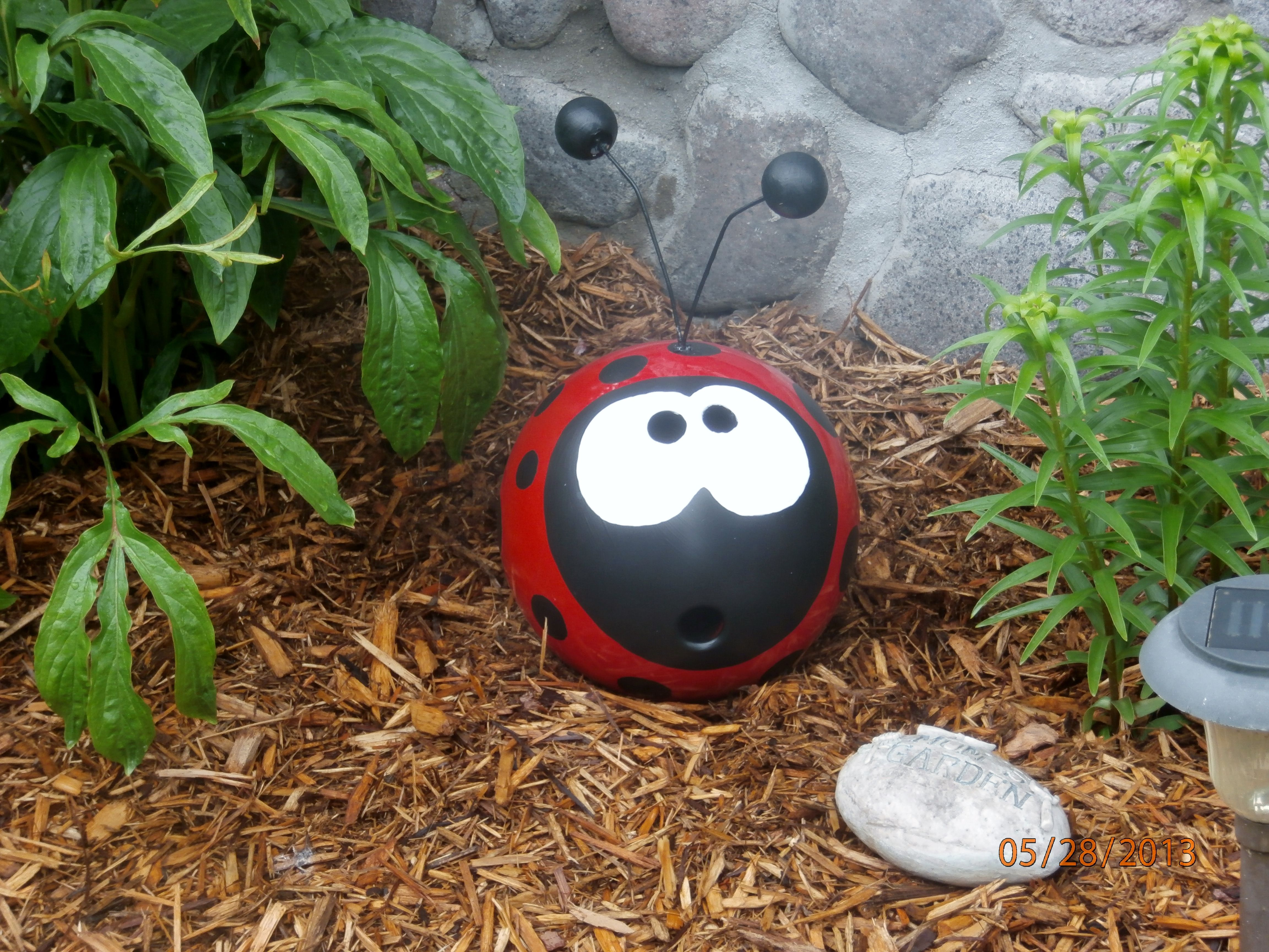 My bowling ball ladybug i made 5 27 13 i made this out of - Mattress made of balls ...
