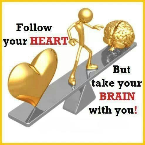 Follow your Heart....But take your Brain with you!!