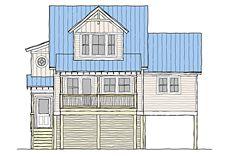 Elevated, Raised, Piling and Stilt House Plans | Coastal ... on raised cottage house plans, texas ranch style home plans, raised house plans southern, coastal raised house plans, raised house floor plans,