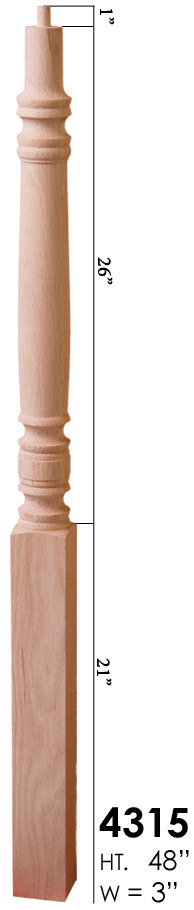 Best Cheap Stair Parts 4315 Pin Top Newel Post 48 11 Http Cheapstairparts Com 4315 Pin Top 400 x 300