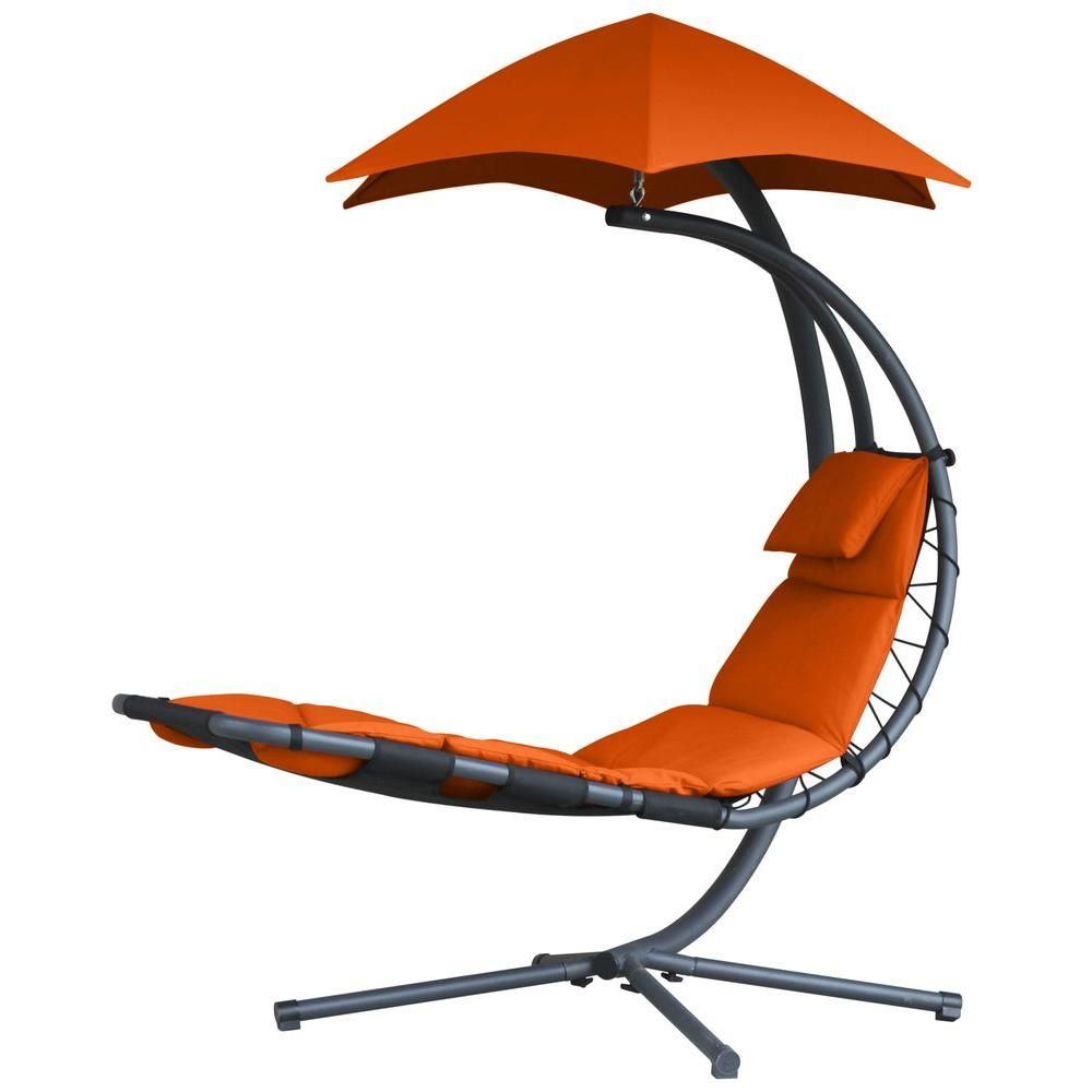 Vivere original dream single motion patio lounge chair with orange