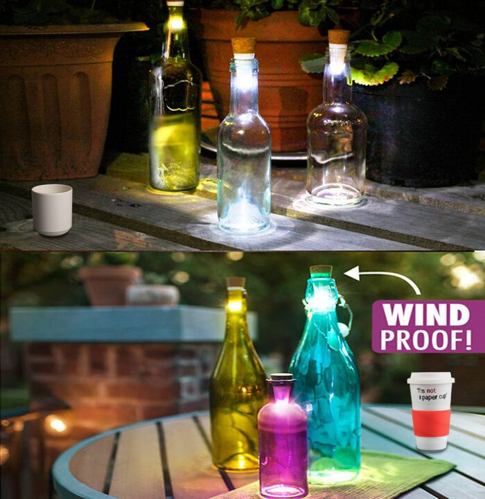 Bottlelight a usb rechargeable LED light