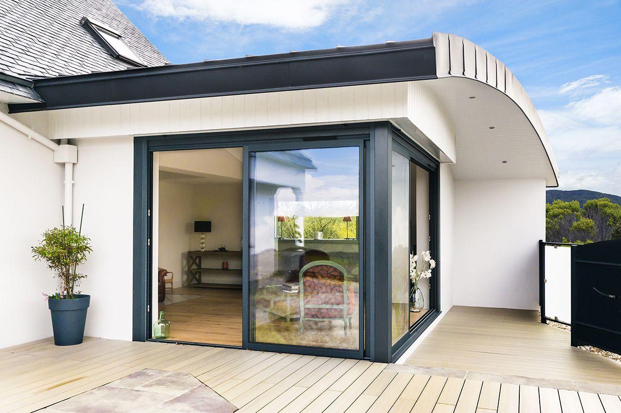 extension toit arrondi inspirations extension et maisons. Black Bedroom Furniture Sets. Home Design Ideas