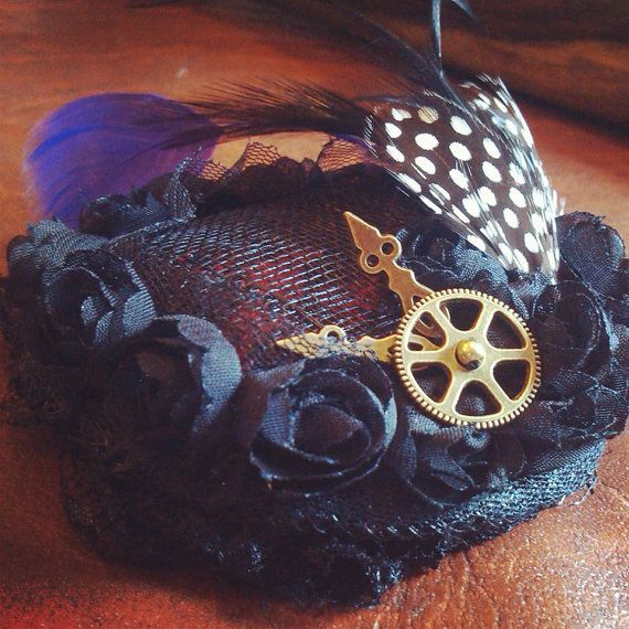 Quirky Wedding Hairstyle: Fabulous Steampunk Inspired Fasinator, Handmade, Quirky