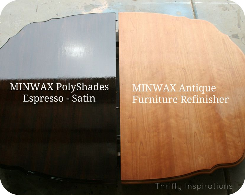 Love the look of the polyshades espresso and the tip about the minwax  refinisher - Love The Look Of The Polyshades Espresso And The Tip About The