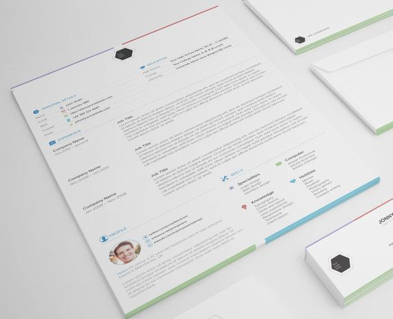 Resume Template for Designers by JonnyEvansDesign on Etsy - Modern Resume Template Free Download