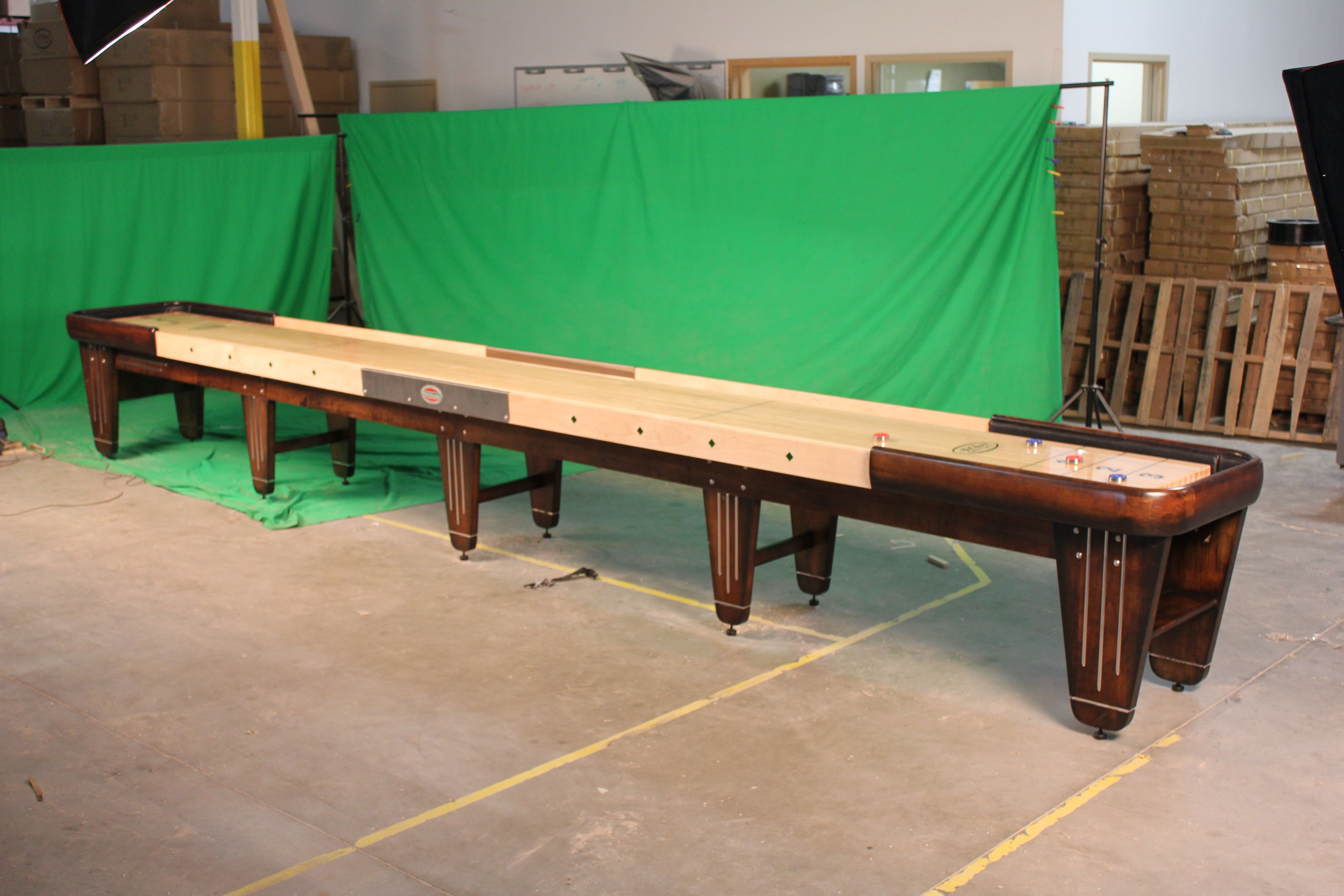 The McClure New Rock Ola Shuffleboard Table Is Made In America And  Handcrafted From The Highest Quality Local Materials.