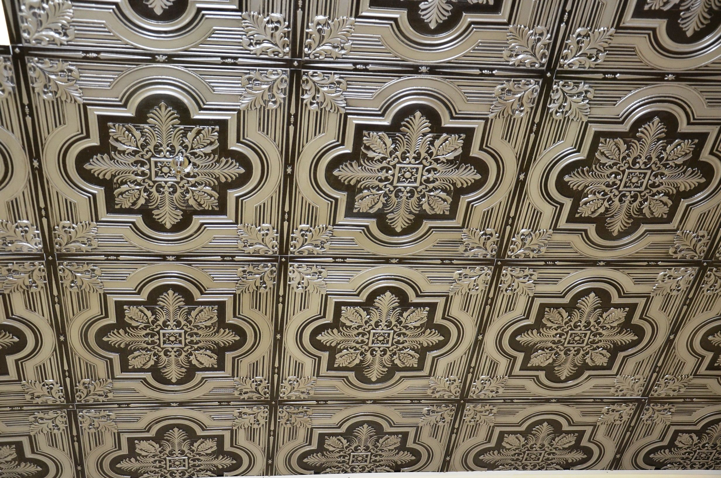 ceilings brothers n tile decorative backsplash ribbons ceiling on tiles tin bows a property